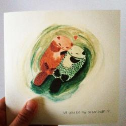 """Will you be my Otter half"" Valentines/Anniversary card"